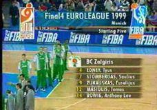 Prisimenant Eurolygos 98/99 metų sezoną