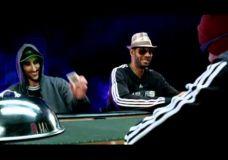 Linksma HEB reklama su Spurs trio : Tim Duncan, Manu Ginobili, Tony Parker