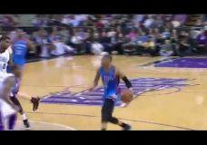 Russell Westbrook ir Kevin Durant driblingo pamokos Kings žaidėjams