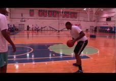 Carmelo Anthony treniruojasi kartu su Hakeem Olajuwon I dalis