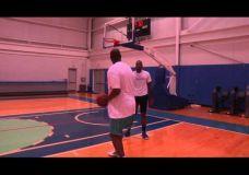 Carmelo Anthony treniruojasi kartu su Hakeem Olajuwon V dalis