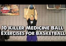 10 pratimų su medicinos kamuoliu
