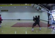 LeBron James treniruojasi kartu su Hakeem Olajuwon II dalis
