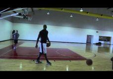 LeBron James treniruojasi kartu su Hakeem Olajuwon IV dalis