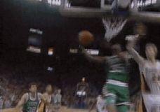 Reggie Lewis dėjimas į Pacers krepšį GIF